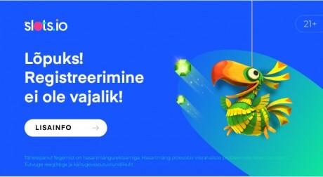 Uus Eestis litsentseeritud kasiino Slots.io nüüd avatud ja pakub üle 800 mängu