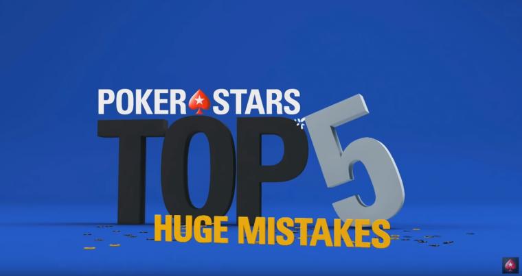 VIDEO: Pokerstars reastas viis suurimat TV-lauas tehtud viga