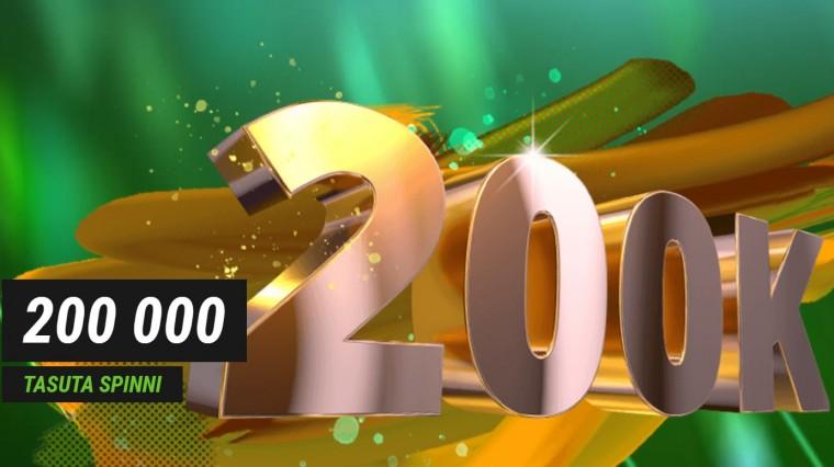 Coolbet jahib 200 000-ndat klienti. Antakse ära 200 tuhat tasuta spinni!