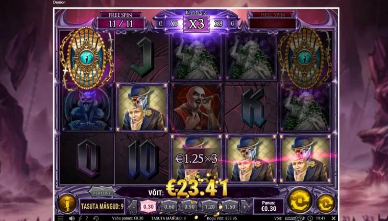 Keeruta slotimängu Demon ja saa 666 eurot!