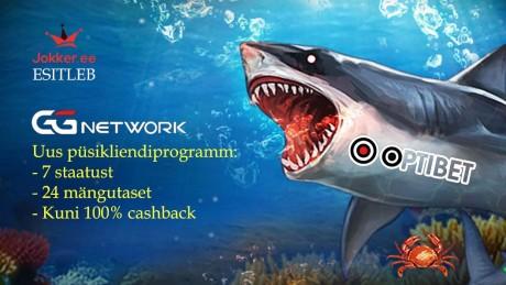 Optibeti pokkeritoas käivitus püsikliendiprogramm - cashback kuni 100%