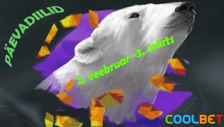 Kuni 3. märtsini: igapäevased kasiinodiilid Coolbetis!