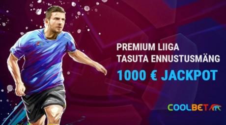 Coolbeti Premium Liiga ennustusmäng + nädalavahetuse mängu tasuta panused