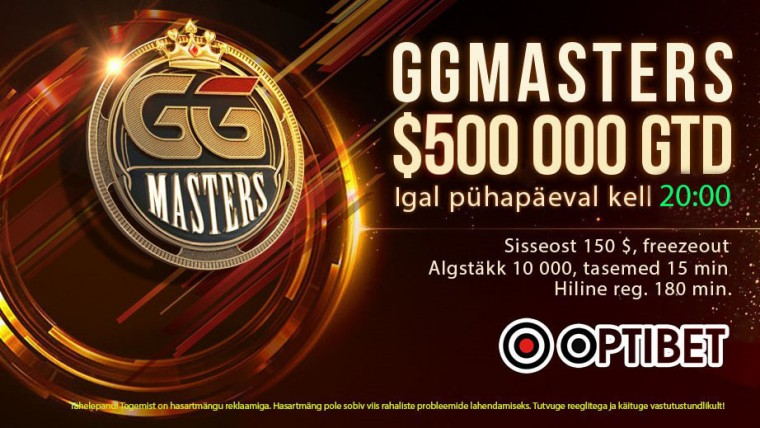 GG Mastersil tekkis overlay, Sunday Millioni parim eestlane sai 54. koha