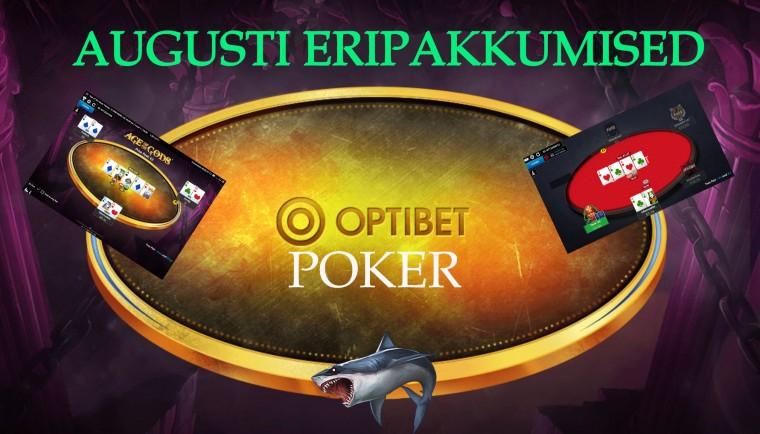 Optibeti pokkeritoa eripakkumised 2020. aasta augustis