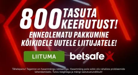 Uued Betsafe mängijad saavad 800 tasuta spinni: vaid 1x läbimängimise kohustus!