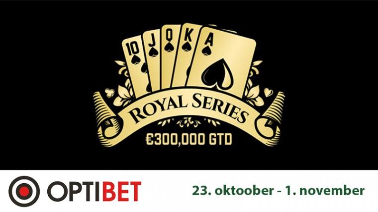 Optibet kutsub osalema täna algaval 300K€ GTD Royal Series pokkerifestivalil!