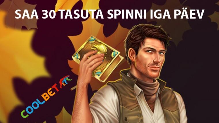 Coolbet annab IGA PÄEV 30 tasuta spinni Eesti populaarseimas slotimängus