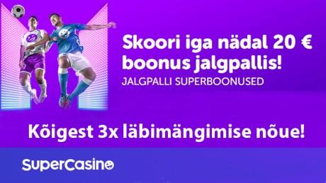 Superhea vutipakkumine: saa iga nädal 20 € boonust!