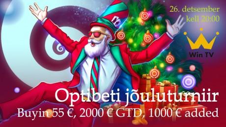 Optibet korraldab suurte lisaauhindadega jõuluturniiri, ülekanne ka WinTV-s!