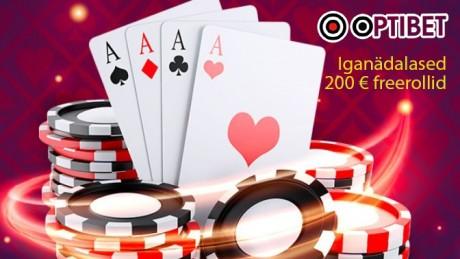 Vaid uutele Optibeti mängijatele: saa NIISAMA 4 piletit 200 € freerollile!