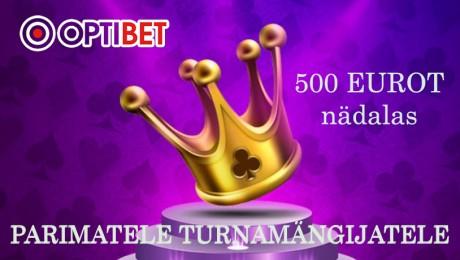 Eksklusiivne: Optibet annab oma parimatele turnamängijatele iga nädal 500 €!