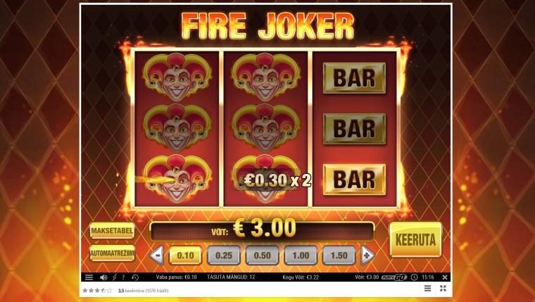 Kuidas saada 100 TASUTA SPINNI mängus Fire Joker? Ava konto Boost Casinos!