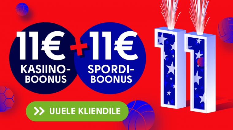 OlyBet annab veebruaris konto loomisel täiesti niisama 11 + 11 +11 eurot