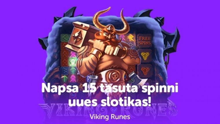 SuperCasino annab 15 tasuta spinni slotimängus Viking Runes