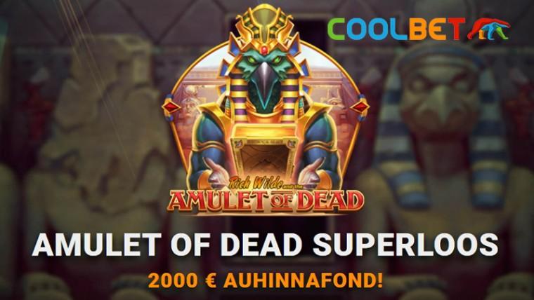 Saa osa 2000 eurost, mängides uut slotikat Amulet of Dead