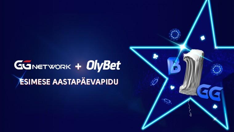 OlyBet tähistab esimest tegutsemisaastat GG-võrgus 1000$ lisatud senditurniiriga