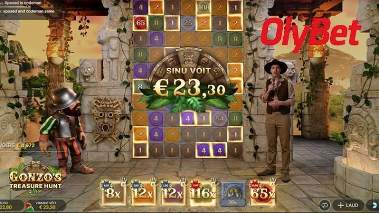 Naudi OlyBetis uut live-mängu ja teeni piiramatult Gonzo's Quest tasuta spinne!