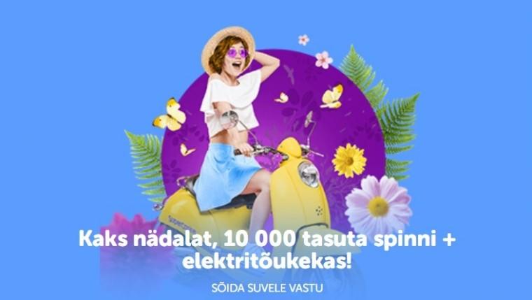 Võida SuperCasinos vinge elektritõuks ja 10 000 tasuta spinni!