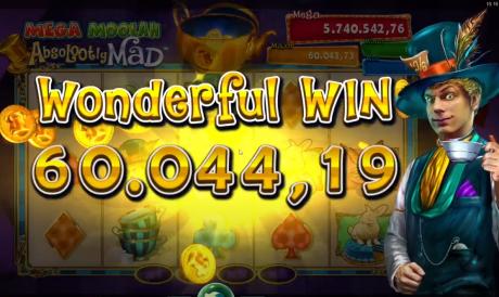 VIDEO: OlyBeti mängija võitis Absolootly Mad Mega Moolah Jackpoti 60 044 €