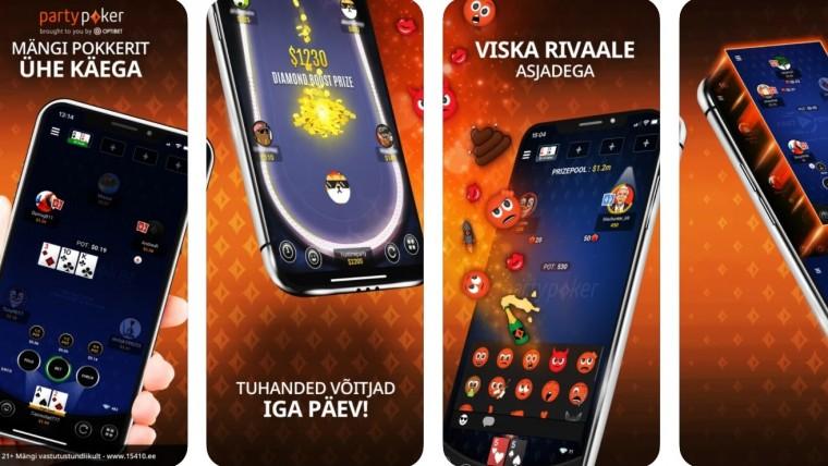 Optibeti pokkerituba käivitas iOS ja Androidi mobiiliäpi