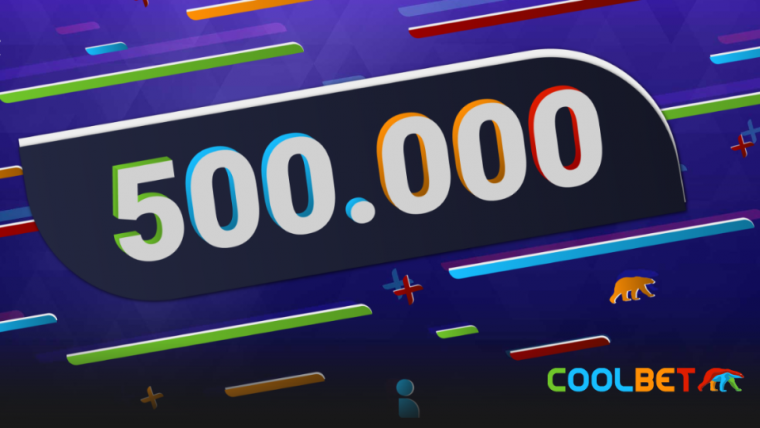 Coolbetil nüüd juba üle poole miljoni kliendi!