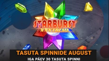 Saa Coolbetis iga päev 30 tasuta spinni mängus Starburst XXXtreme!