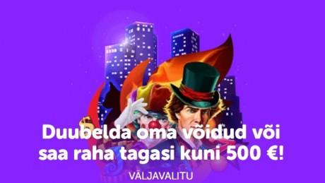 Duubelda SuperCasinos oma võidud või saa kuni 500 € cashbacki!