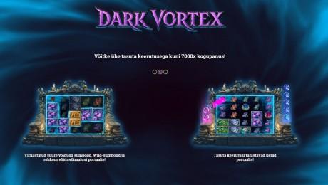 Ka septembris - saa Coolbetis iga päev 30 tasuta Dark Vortex spinni!