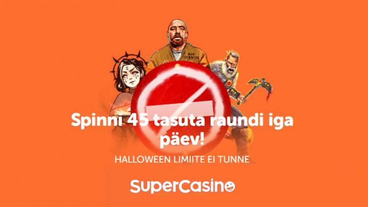 Halloween SuperCasinos: Sind ootab kuni 855 tasuta spinni!