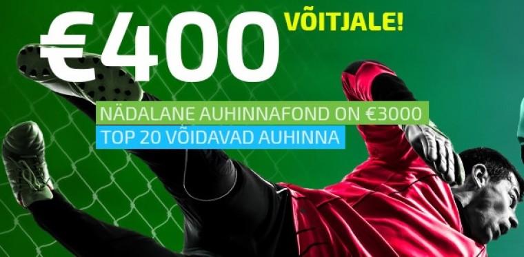 Tasuta ennustusportaalis selle nädala auhinnafond 3000 eurot!