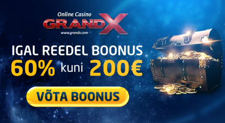 GrandX veebikasiinol uus veebileht, igal reedel 200-eurone reload-boonus