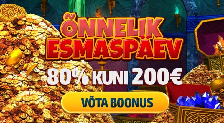 Vaid täna - kuni €200 Õnneliku Esmaspäeva boonus GrandX kasiinos