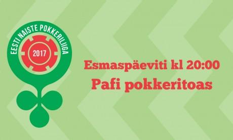 Eesti naiste pokkeriliiga 2017 esimene turniir toimub 2. oktoobril