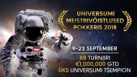 Miljon eurot garanteeritud Universumi Meistrivõistlused Pokkeris 9.-23.september