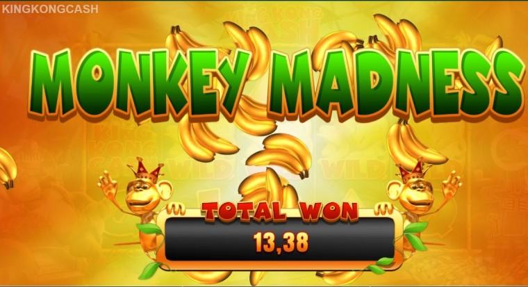 FOTOSEERIA slotika King Kong Cash kõikidest boonusmängudest